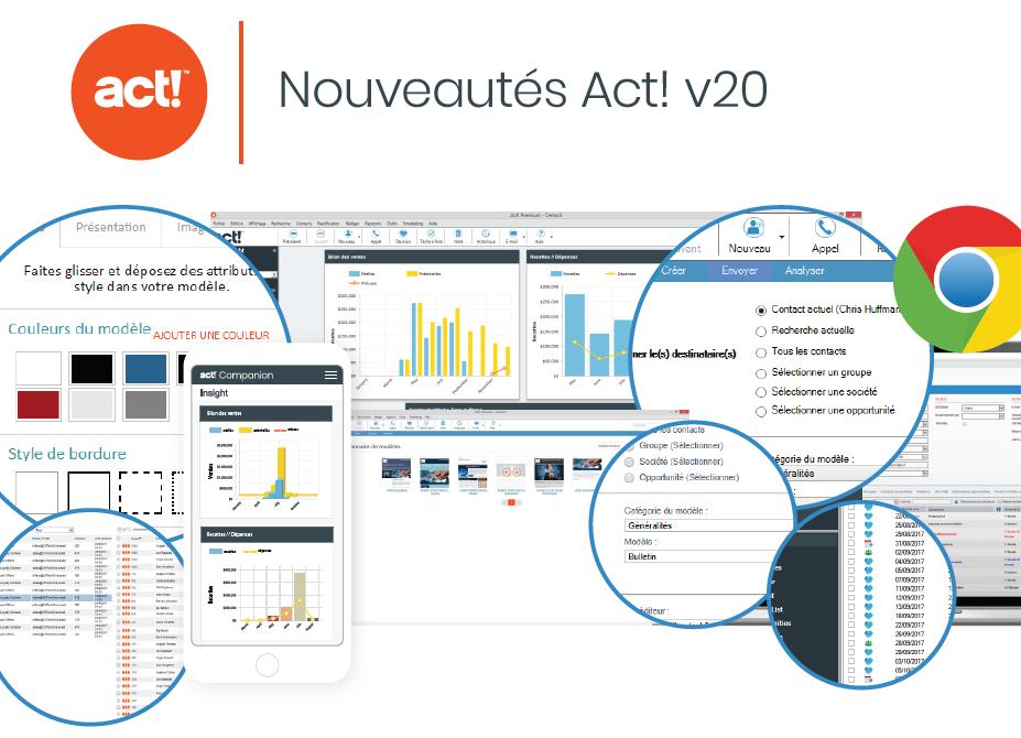 Nouvelles fonctions logiciel Act! v20