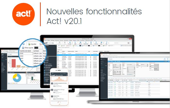 Nouvelles fonctions logiciel Act! Premium Plus v20.1